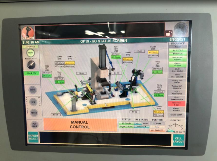 Image of customized HMI Operator Screen